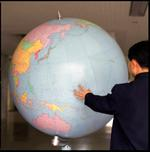 Hiroshi Watanabe: Globe, Songdowon International Children's Camp, North Korea