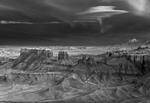 Mitch Dobrowner: Nacreous Over Badlands, Factory Badlands, Utah, 2019