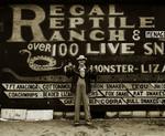 Steve Fitch: Snakepit operator, Highway 66, Sayre, Oklahoma, 1972?